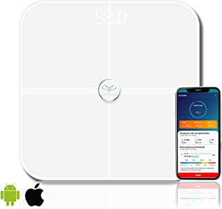 Actofit Body Fat Analyser Smart Scale with Complete Digital Body Composition Monitor Including BMI, Skeletal Muscle, Prote...