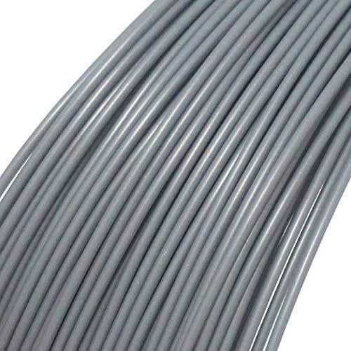 3D-Druckerfilament, 1,75 mm PLA-Filamentdruckmaterialien für 3D-Drucker und 3D-Stifte, verschiedene Farben von 10 m (Silber)