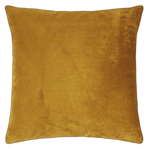 Pad - Elegance - fluwelen kussens, sierkussen, kussenhoes - 40 x 40 cm - kleur: mosterd geel - zonder vulling