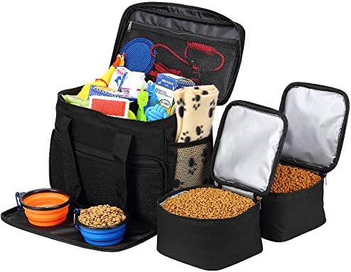 Coopeter Dog Bag to Travel Weekend Tote Organizer Bag Incudes1 Dog Food Travel Bag 2 Dog Tote product image