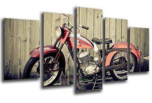Quadro fotografico moto vintage Harley Davidson dimensioni totali 165 x 62 cm XXL