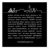 MOTIVISSO Bottroper Wörter #1 Poster Ruhrgebiet Ruhrpott