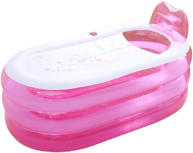 LPYMX,Padded bathtub Inflatable bathtub, home adult folding bathtub bath (Size   140cm86cm58cm)