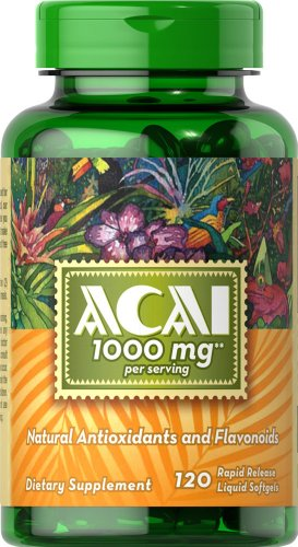 Puritans Pride Acai 1000 Mg, 120 Count