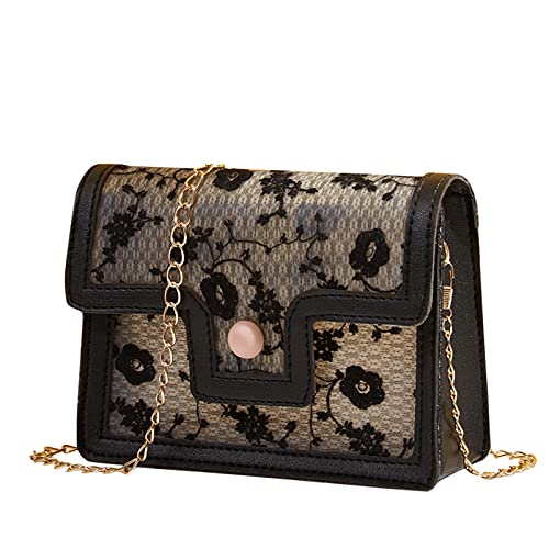 WEIBM Bolso transparente de la cartera del bolso de asas del bolso de la cadena del hombro del bolso exquisito de las señoras