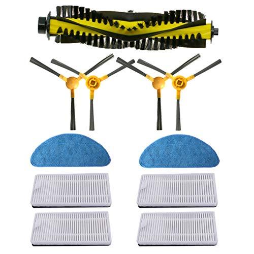 Heritan per NEATSVOR X500/X600 Robot Aspirapolvere Kit di Ricambio Accessorio Spazzola Laterale Filtro Mop Roller Brush