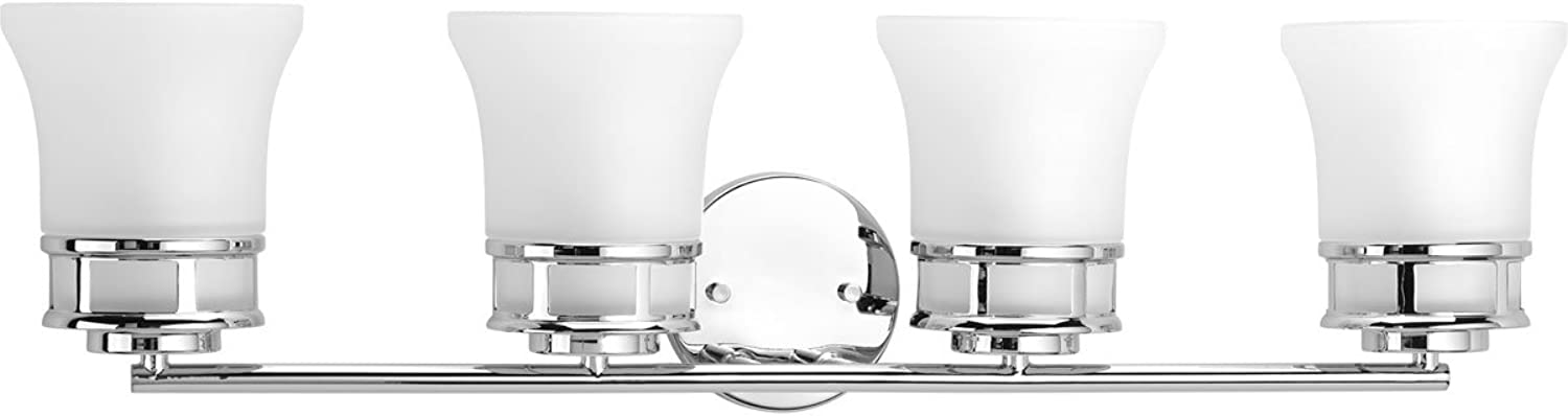 Progress Lighting P2149-15 Traditional Casual 4-100W Med Bath Bracket, Polished Chrome