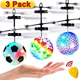 3 Pack Flying Ball Kids Toys RC Flying Toys Hand Control Helicopter Infrared Induction Holiday Christmas Gift Toy for Boys RC Flying Light Up Toy Indoor Outdoor Game Remote Control Drone Rechargeable