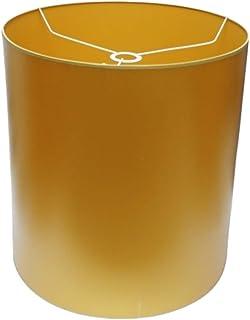 Abażur 360x400 mm średnica x wysokość   Walec złoty pvc   Pod oprawkę E27   Do lamp stołowych, podłogowych i wiszących   K...