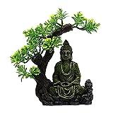 JONJUMP Crafts - Figura decorativa de Buda zen para acuario, escondite cueva, pecera, adorno...