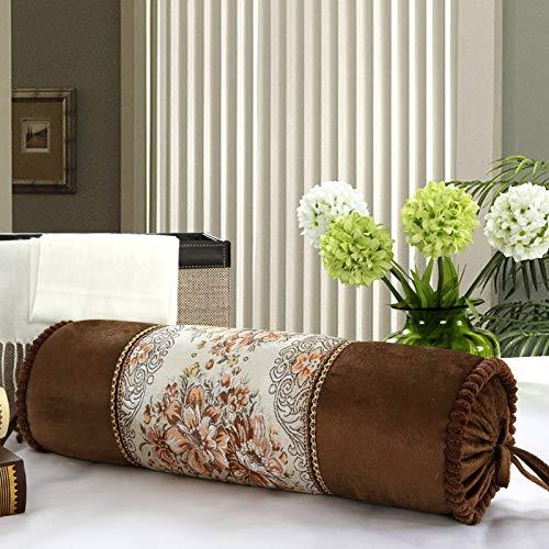 QMZ Cojín de sofá retro clásico europeo almohada funda de almohada almohada redonda de caramelo cojín de futón almohadilla de rodillas meditando