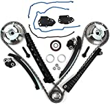 Camshaft Drive Variable Camshaft Timing Repair Kit for Ford Expedition F150 F250 F350 Super Duty Lincoln Mark LT Navigator 5.4L 3V Triton 2004-2013, with Phasers Sprockets Tensioners Guides Chains