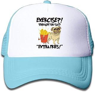 Bizwheo Exercise Thought You Said Extra Fries Mesh Baseball Cap Kids Adjustable Golf Trucker Hat U5151