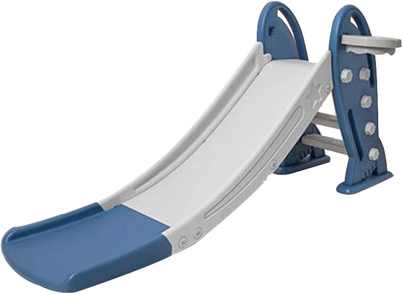 Scivoli da giardino Scivolo di Plastica Scivolo per Bambini per Uso Domestico per Bambini Giocattolo Combinato Multidivertimentozionale Piccolo Campo da Giuoco (Coloree   blu, Dimensione   175  48  79cm)