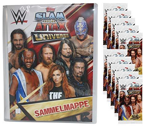 CAGO WWE Slam Attax Universe - 1 Leere Sammelmappe + 10 Booster