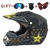 Adult Motocross Helm MX Motorradhelm ATV Scooter ATV Helm D. O. T Zertifizierung Rockstar...