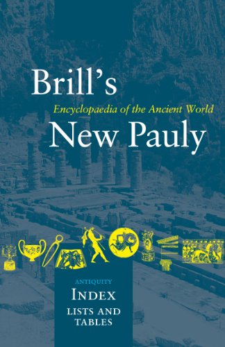 Brill's New Pauly, Antiquity, Index