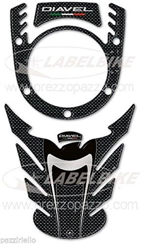 3D Resin Sticker KIT Tank Protection kompatibel für Motorcycle Ducati DIAVEL