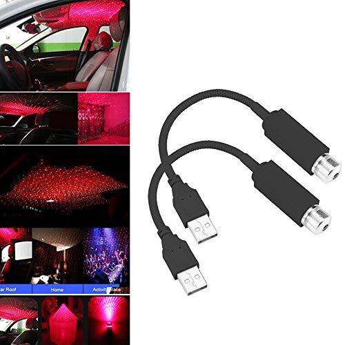 HSKB - Lámpara de luz para coche, USB, efecto de luz RGB, efectos de...