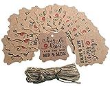 Geschenkanhänger für Hochzeiten, originelles Design, Kraftpapier, zum Aufhängen, für Partys,...