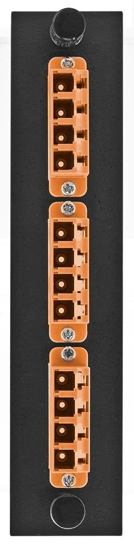 どっちでも特徴エスニックHubbell HUBFSPLCQS3OR アダプターパネル 12フィバー 3LC 回転 ジルコンスリーブ オレンジ