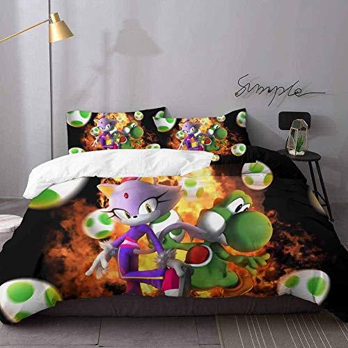 Kerstmis Comforter Sets Super Mario Brothers Dekbed Comforter Quilt Beddeken Beddeken 3 Stuks Dekbedovertrek Set Twin