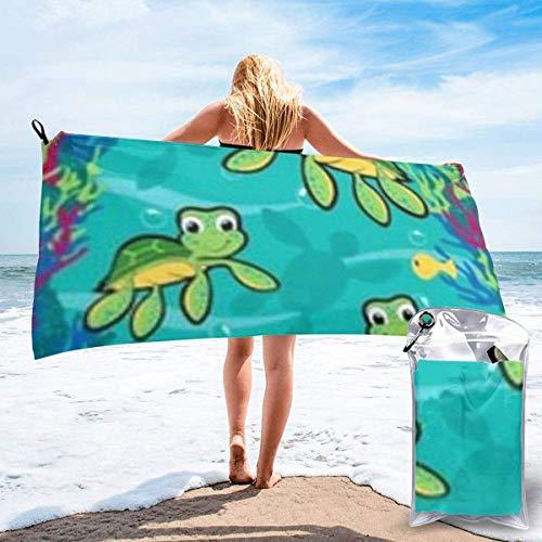 Toalla de baño Turtle Mutant Microfiber Sand Free Toalla de Playa Manta-Quick Dry Super Absorbent Toalla Fina y Ligera