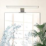 Lampe Miroir Salle de Bains LED 8W Wowatt 640lm Blanc Chaud 2800K Etanche IP44 Applique En Aluminium Eclairage Pour Maquillage Armoire Toilette Tableau 40cm