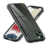【ONES】 iPhone11ProMax ケース 半透明·黒 耐衝撃 超軍用規格 『エアバッグ、半密閉音室、Qi充電』〔滑り止め、すり傷防止、柔軟〕〔美しい、光沢感、軽·薄〕 衝撃吸収 HQ·TPU 高級感 カバー