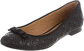 Tory Burch Marion Quilted Ballet Flat Women's Leather Shoes