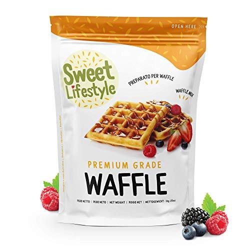 Originale preparato per Waffle |1 KG Sweet Lifestyle |100% Made in Italy | Waffle mix |Facile e veloce da preparare | Qualità Premium