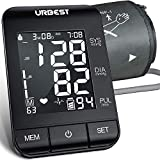 URBEST Blood Pressure Monitor - Accurate Digital BP Machine Extra Large Upper Arm Blood Pressure Cuff with Large Backlit Display,2-Users 180 Memory Automatic High Blood Pressure Detector for Home