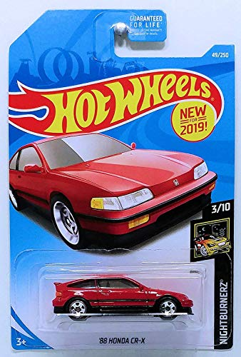 Hot Wheels 2019 Nightburnerz '88 Honda CR-X 49/250, Red