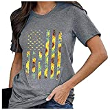 WOBANG Camiseta sexy de manga corta para mujer, cuello en V, monocolor, informal, para verano, rosa, blanco, rojo, túnica, para mujer gris XL