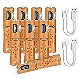 USB AAA Baterías Recargables xiyihoo Batería Recargable Recargable de Larga duración (Paquete de 8)