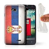 Stuff4, serie European Flag, cover o skin per smartphone LG-GC Sebia/Serbian LG L70/D320