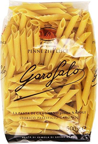 GAROFALO Penne Ziti Lisce, Pasta Di Semola Di Grano Duro - 8 pezzi da 500 g [4 kg]