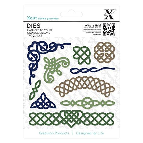 docrafts XCU503301 Xcut Celtic Flourish Decorative Die (10 Pack), Multicolor