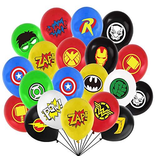 104 Stücke Superheld Luftballons Latex Luftballons für Kinder Geburtstag Mitbringsel Lieferungen Dekorationen 16 Symbol Perfekt für Ihre Motto Party (12 Zoll)