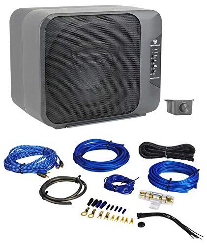 "Rockville Ground Pounder 800 Watt Powered Dual 10"" Loaded Car Subwoofer+Amp Kit"