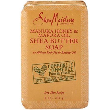 SheaMoisture Manuka Honey & Mafura Oil Shea Butter Bar Soap 8 oz