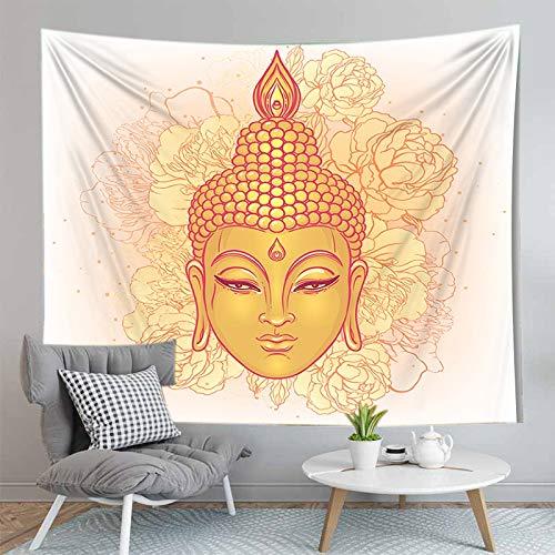 WERT 3D Buddha Wandteppich Wandbehang Stoff Wandteppich Wandteppich Teppich Dekoration Wandteppich Hintergrund Stoff A11 130x150cm