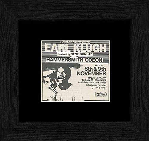 Earl Klugh - Hammersmith Odeon 8th & 9th Nov 82 Framed Mini Poster - 18x18cm
