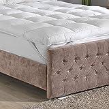 Lancashire Bedding Premium Extra Deep 10 cm Thick Mattress Topper Breathable Natural Cotton Cover...