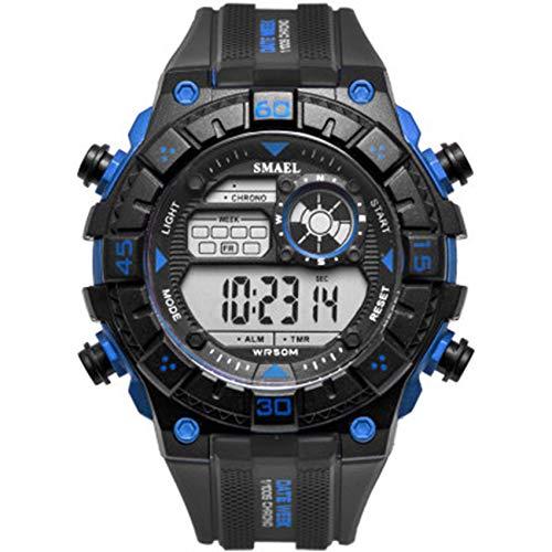 W.zz Reloj electrónico Digital de los Deportes de los Hombres del niño Impermeable LED electrónico del Reloj del Deporte,F