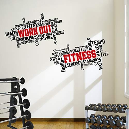 2 adhesivos de pared grandes para entrenamiento profesional, ideal para gimnasio, citas de excelente valor
