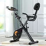 ephex Vélo d'appartement Pliable magnétique avec 8 Niveaux de résistance, Masse d'inertie de 2,5 kg, avec Cordes de...