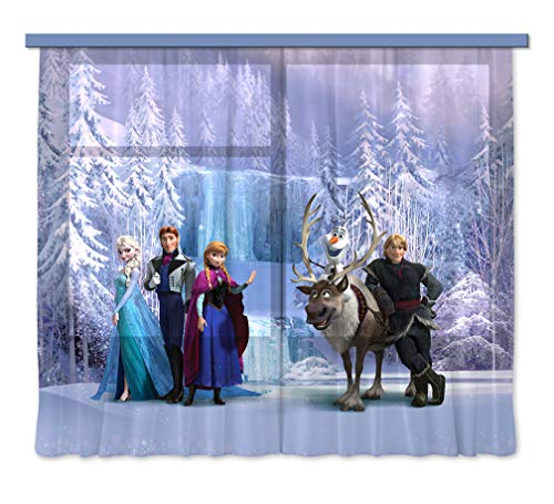 Gardine/Vorhang FCS XXL 7007 Disney, Frozen, 280 x 245 cm, 2-teilig