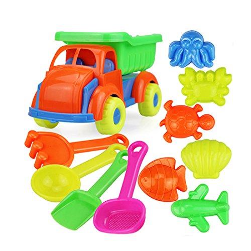 IT IF IT 31 Stück Sandspielzeug Set Für den bevorstehenden Urlaub, Sand und Strandspielzeug für Junge Mädchen, Sandkasten Spielzeug, Sehr viele Teile für den Sandkasten oder Strand