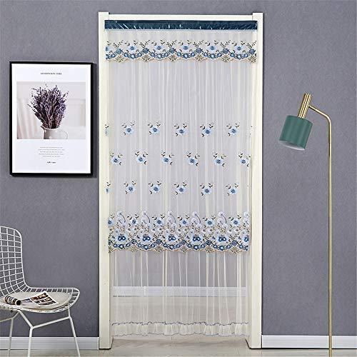 YUNSW Mückensichere Sommervorhänge, Zweilagige, Mit Spitzen Bestickte Garnvorhänge, Lange Vorhänge Für Schlafzimmertrennwände